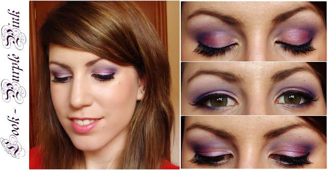 rubibeauty makeup maquillaje paso step by step morado violeta rosa pink lentillas purple peticion