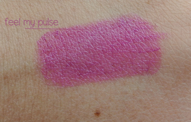 mac feel my pulse swatch