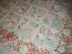 "A ""Not too Shabby Chic"" quilt"