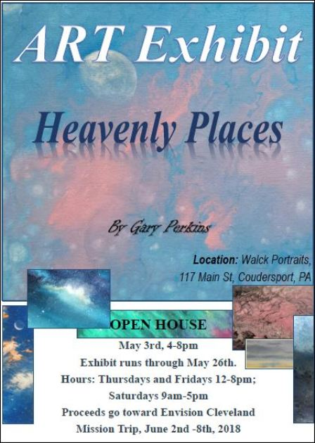5-24/25/26 Open House Art Exhibit, Coudersport