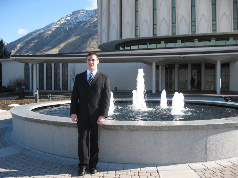 Fountain in front of Provo Temple