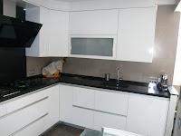 Reuscuina muebles de cocina blanco brillo sin tiradores - Cocina blanca sin tiradores ...