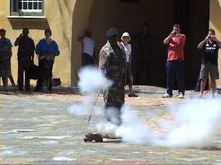 The Firing of the Signal Cannon, Castle of Good Hope, Cape Town, South Africa