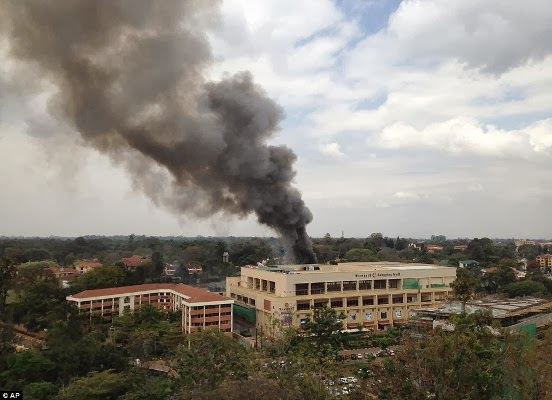 Kenyan mall ablaze after Islamic terrorists 'blow themselves up' + names of terrorists and victims