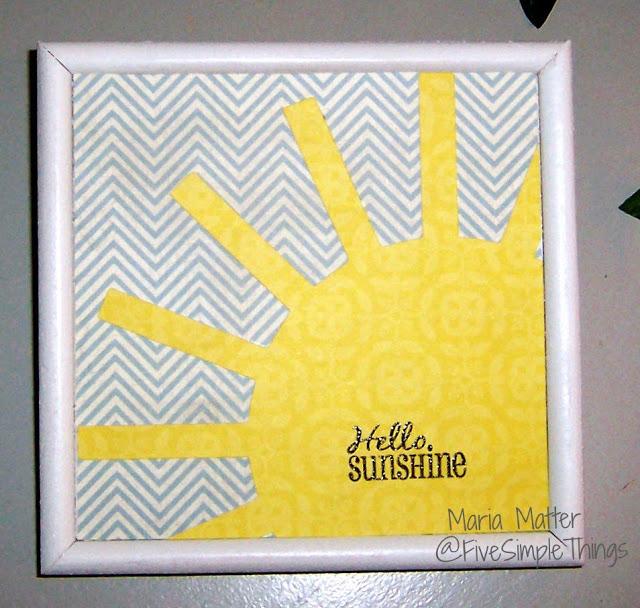 Hello Sunshine simple DIY wall art