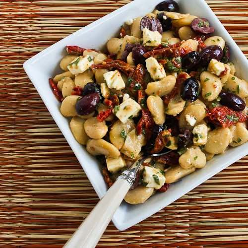 Butter Bean Salad with Sun-Dried Tomatoes, Kalamata Olives, Feta, and ...