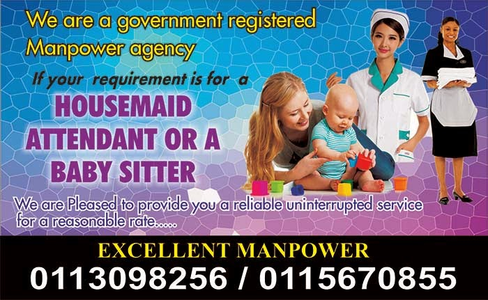 Looking for Housemaid, Attendant or a Baby Sitter.
