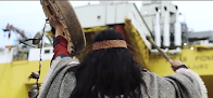 VIDEO: First Nation Warrior takes on Shell at sea!