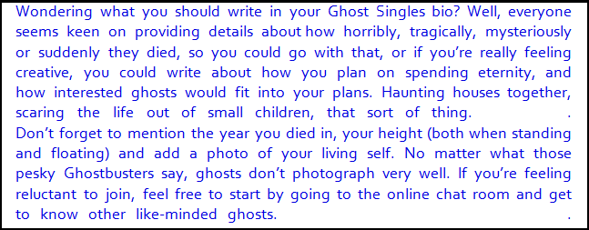 Ghost dating site