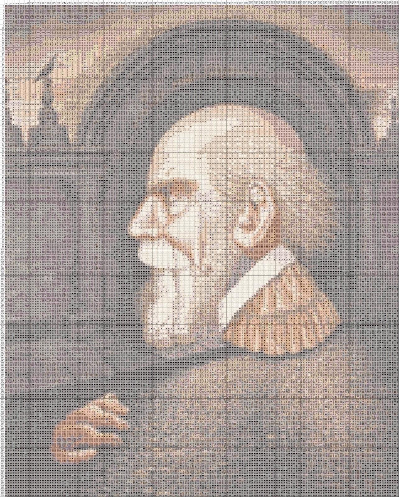 Gambar Pola Kristik - Ilusi Optik 3 - Wajah