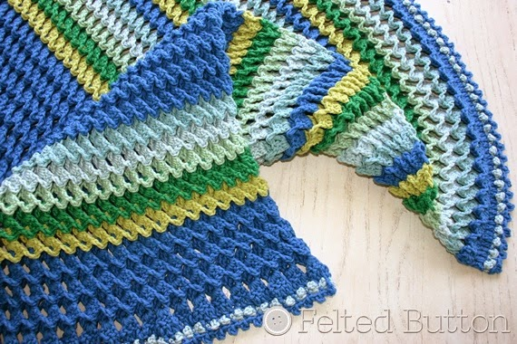 Irish Sea Blanket Crochet Pattern