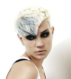 Asymmetric Short Punk Girl Hairstyle