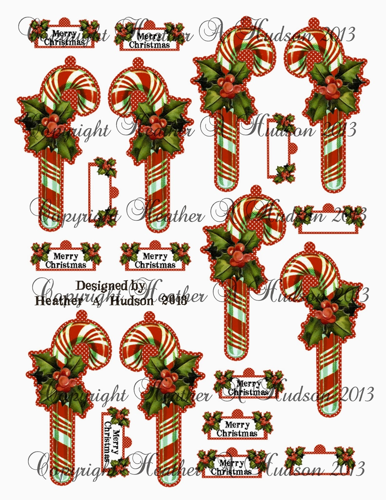 Large candy cane ornaments - Page Two Larger Candy Canes