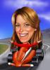 Female F1 Driver Caricature