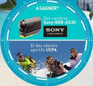 Jeu concours Gagnez des caméras Action Cam Sony HDR-AS30, des séjours...