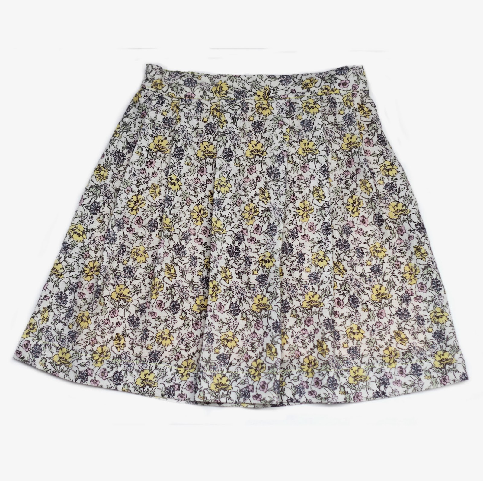 Poltam skirt pleated front and back elasticised