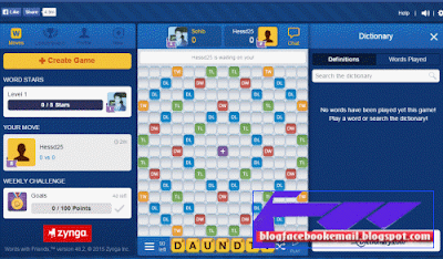 daftar game terpopuler di facebook   Words With Friends