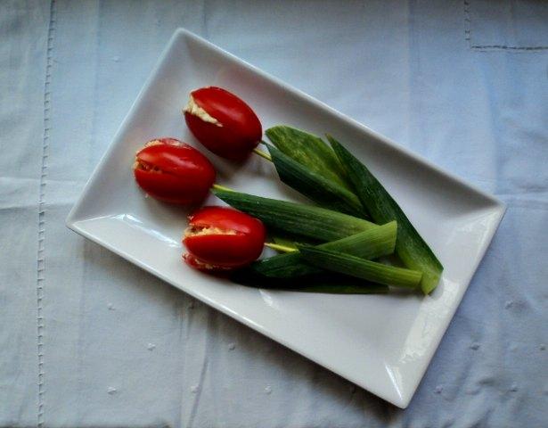 receta casera tomates, rellenos, ensaladilla, salmón