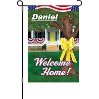 Personalized Welcome home flag