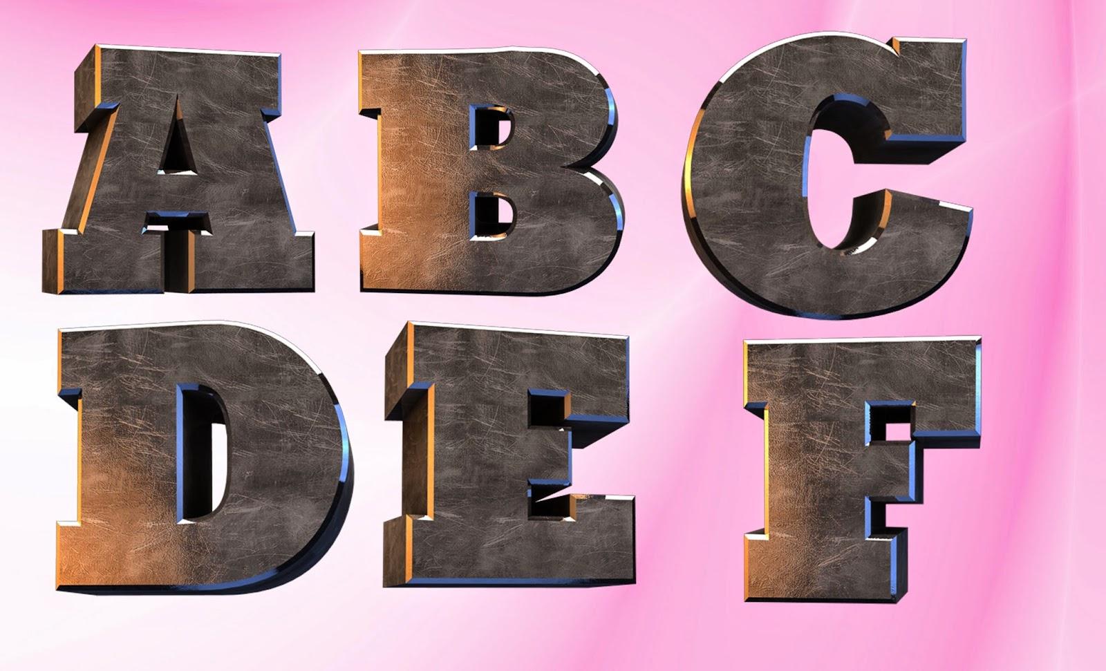 3D Alphabet New