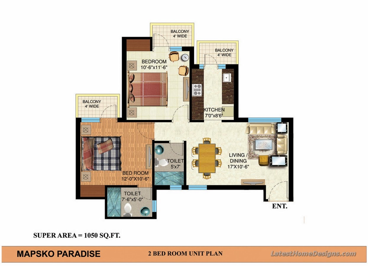 3 Bhk House 3d Joy Studio Design Gallery Best Design