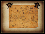 Display of Tucson, AZ treasure map. Unfinished map waiting for you to choose .