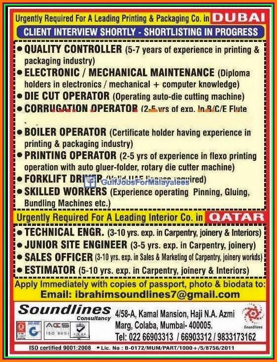 Leading Printing & Packaging Company Jobs for Dubai ...