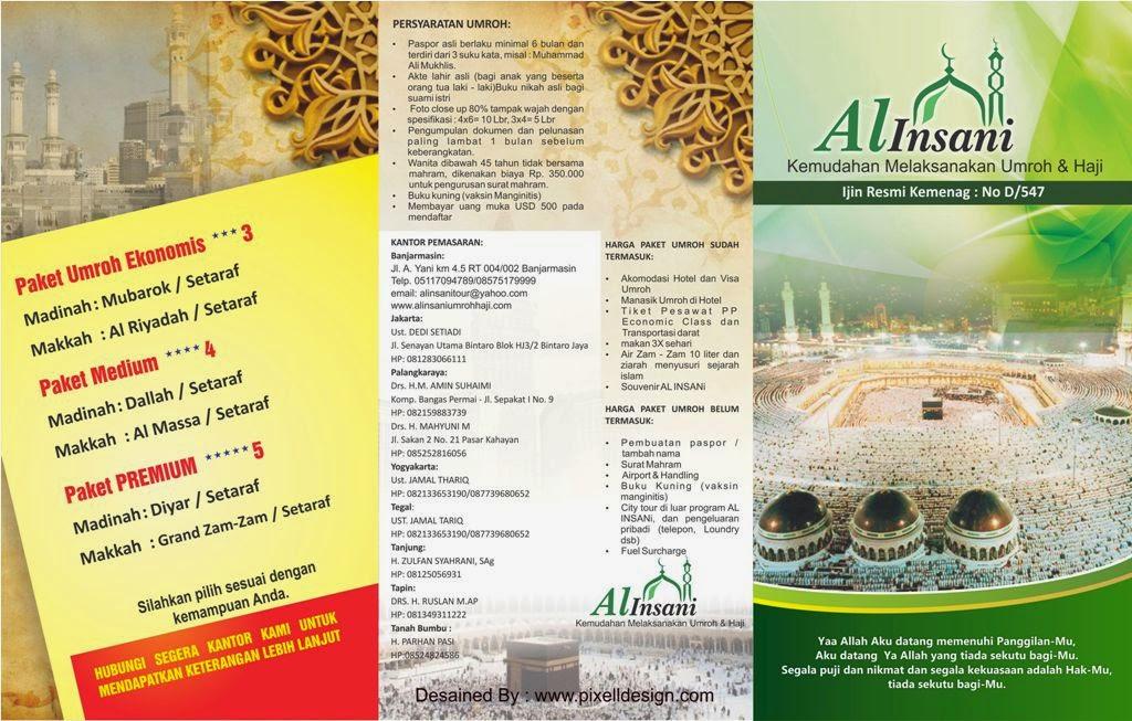 Desain Brosur Haji dan Umroh Elegance dan Exclusive
