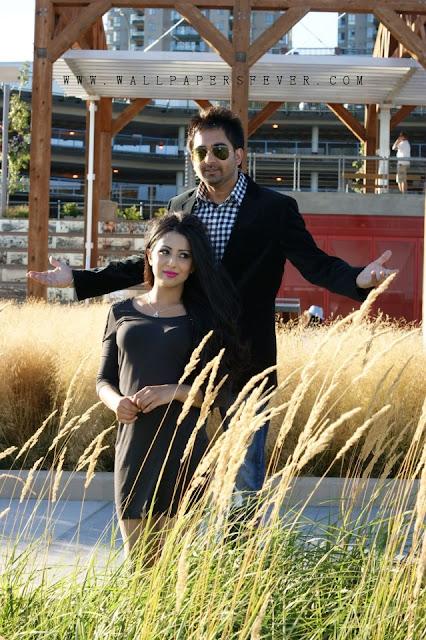 ushna Hot Model With Sharry Mann Punjabi singer