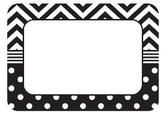 http://www.teachercreated.com/products/black-white-chevrons-and-dots-name-tags-labels-5548