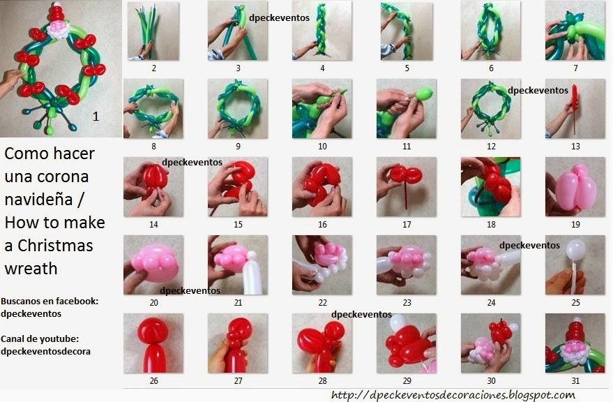 D 39 peck eventos decoraciones como hacer una corona for Como hacer decoraciones navidenas