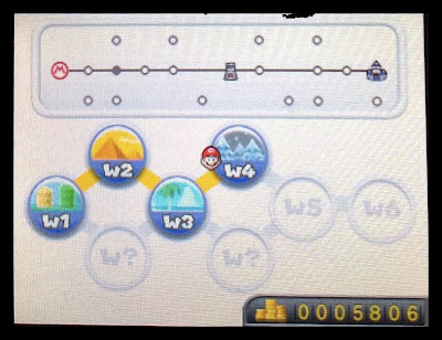 new super mario bros. 2 3ds lower screen world select
