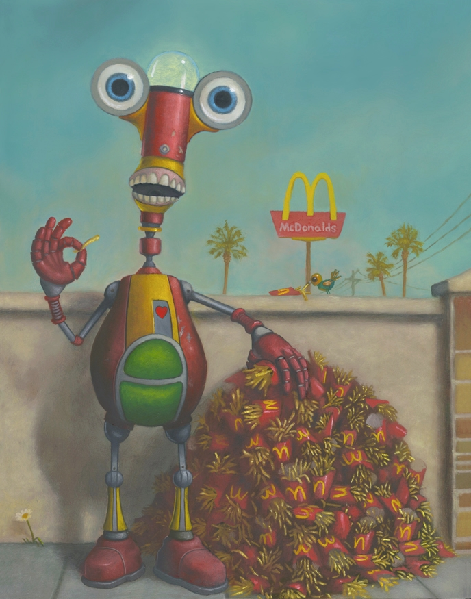 13-The-Heist-McDonald-s-Geoffrey-Gersten-Surreal-and-Retro-Paintings-in-Modern-Times-www-designstack-co