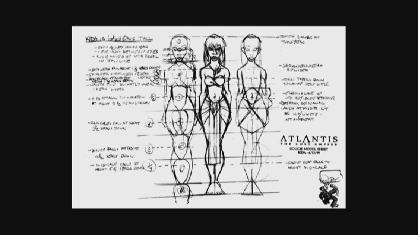 Disney Atlantis Character Design : Cartoon concept design atlantis the lost empire model sheets