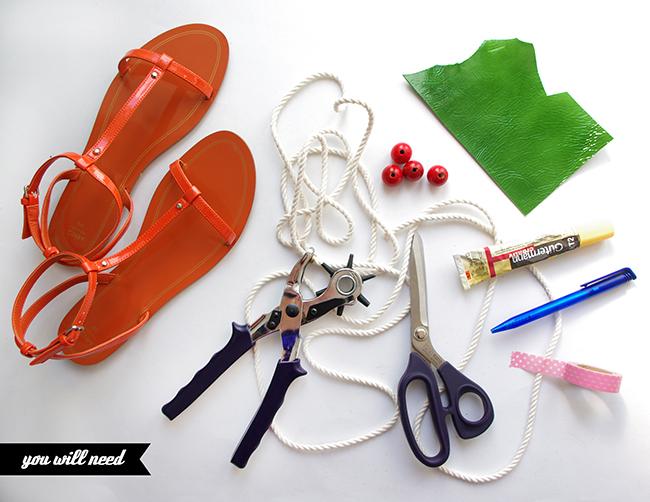 DIY Cherry Sandals by www.fashionrolla.com