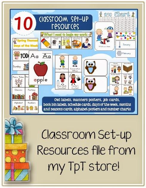10 x Classroom Set-up Organization Resources BUNDLE