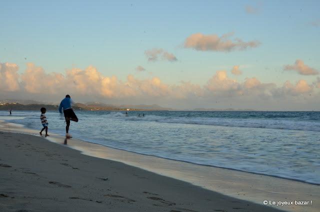 Martinique - Le Diamant - plage au coucher du soleil