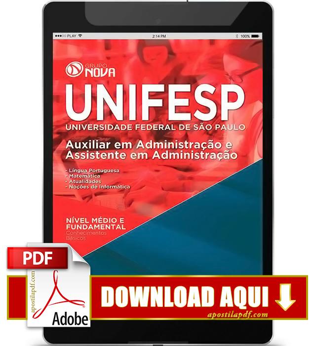 Apostila UNIFESP Auxiliar em Administração PDF Download