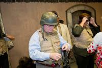Leaders don combat gear