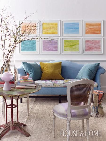 decorar salon en tonos pastel y blanco shabby chic
