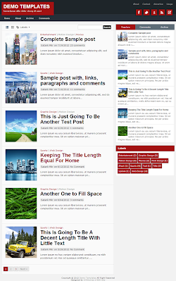 TheTuts Red Blogger Template