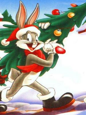 imagen de bugs Bunny vestido de papa noel