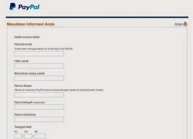 Cara Daftar Paypal Terbaru