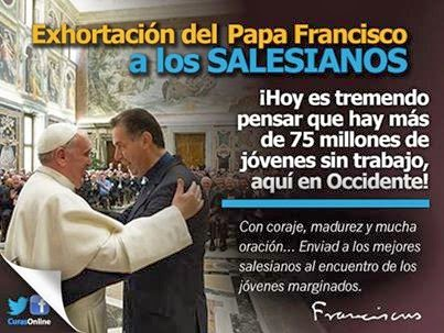 EL PAPA FRANCISCO A LOS SALESIANOS