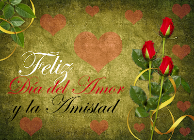 Postal de Amor para el Día de San Valentín con mensaje gratis