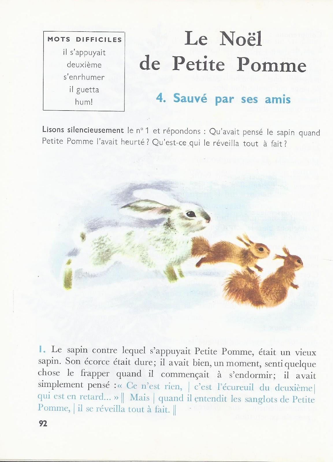 Fabulous école : références: Le Noël de Petite Pomme (René Jacquenet) WP47