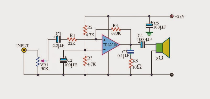 Electronics Projects The Multi Purpose Amplifier Using Tda2030