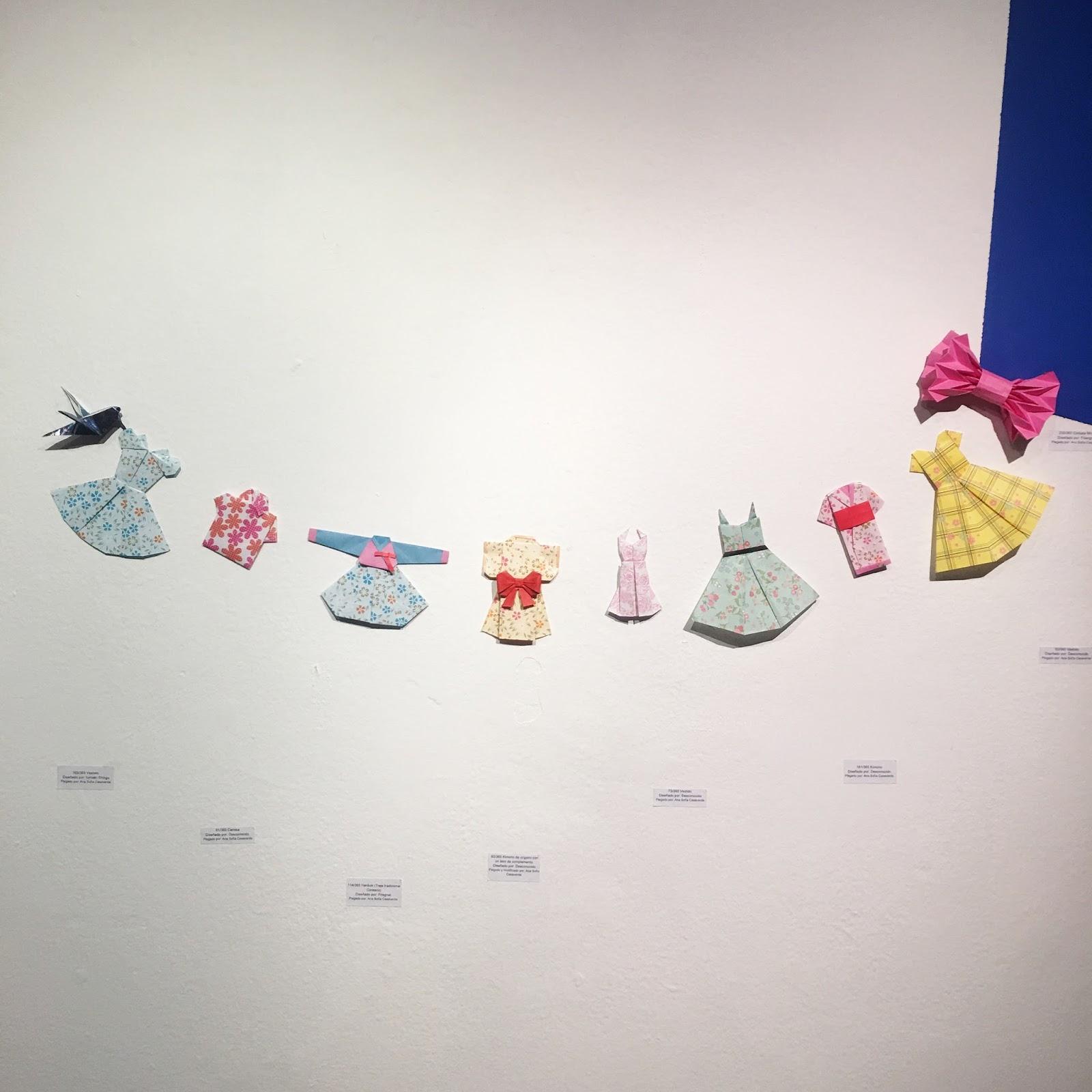 Vestidos de papel origami Ana Sofía Casaverde
