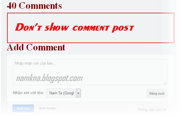 Sửa lỗi không hiển thị nhận xét trong comment blogspot
