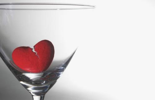 How To NOT Get Screwed Over On Valentine's Day - red heart on glass